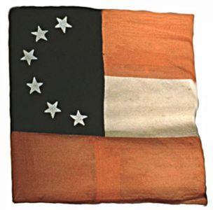 Confederate Flag - Six Stars (Captured by 3rd Regiment, NJ Volunteers, Manassas) (CN 137)