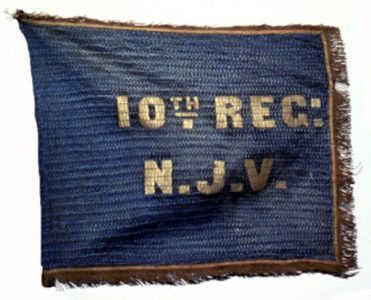 Flank Marker of Camp Color, 10th Regiment, New Jersey Volunteers (CN 55)