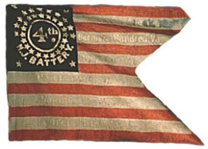 Guidon, Battery D, 1st Regiment, NJ Artillery (4th Battery) (CN 122)