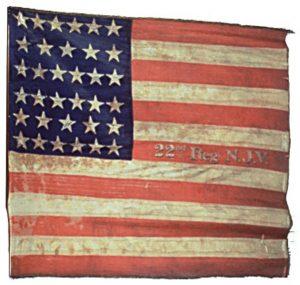 US Flag - 22nd Regiment, NJ Volunteers (CN 76)